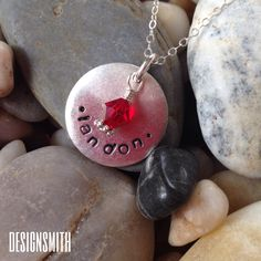Personalized handstamped pendant by DesignSmith. $35 rdesignsmith.com