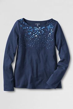 Girls' Sparkle T-shirt from Lands' End