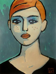 Art And Illustration, Illustrations, Abstract Portrait, Portrait Art, Portraits, Acrylic Painting Lessons, Painting & Drawing, Human Art, Human Human