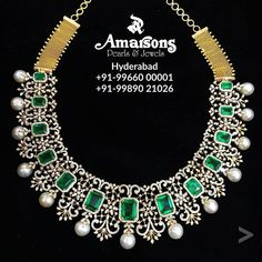 Jewellery has the power to be the one little thing that makes you feel unique✨ . Diamond Necklace Set, Diamond Jewelry, Silver Jewellery, Stone Necklace, Indian Jewelry, Dimond Necklace, Emerald Necklace, Emerald Jewelry, Handmade Jewellery
