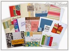 MWH: New Birthday Scraps Kit - a new kit, specially designed to use your scrap stash and create 12 different birthday cards utilizing the Joyful Birthday stamp set.