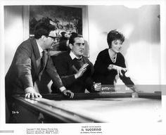 News Photo : Vittorio Gassman, Jean Louis Trintignant and... Anouk Aimee, Still Image, Scene, Film, News, Movie, Film Stock, Movies, Films