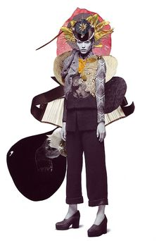 Ashkan Honarvar Mixed-Media Collages | Trendland: Fashion Blog & Trend Magazine An artistic collaboration with stylist Kathi Kauder and photographer Sabrina Theissen. For these mixed media collages Ashkan Honarvar used Vanitas symbols in a search for the equilibrium between life and death. The woman depicted features different animal eyes, flowers and other body parts. These collage series was published in I Love You Magazine.
