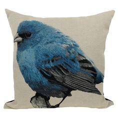 Found it at Wayfair - Bird Emboridery Throw Pillow