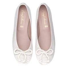 "Pretty Ballerinas ""Rosario"" flat - soft nubuck with snake print in white"