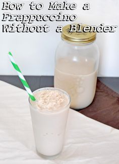 The Slush Mug makes it easy to make a frappuccino without a blender. #yum