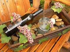 Cool little wine bottle fountains for those of you who partake or not. E.J. Petty is local craftsman in Touchet, Washington