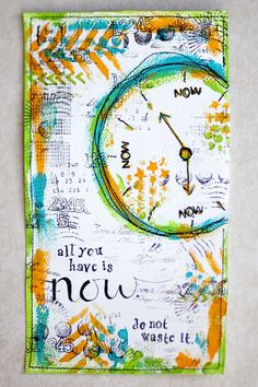 Art journal page on fabric...july7_1 (Whole series of cool pages on this site)
