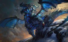 Astolfo, the Frost Dragon, Mike Azevedo on ArtStation at https://www.artstation.com/artwork/astolfo-the-frost-dragon
