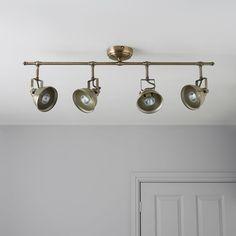 Waverley Antique Brass Effect 4 Lamp Bar Spotlight   Departments   DIY at B&Q