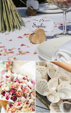 Para un estilo Vintage romántico, los pétalos de rosa seco son los recomendados.
