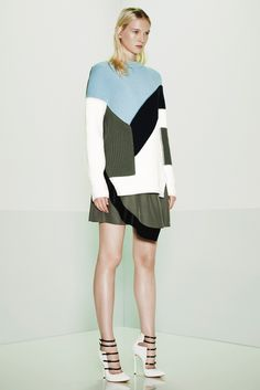 Prabal Gurung - Resort 2015 - Look 1 of 39  Sweater produced with Knit Illustrated Inc