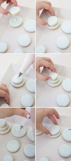 DIY: How to make stacked wedding cake sugar cookies!