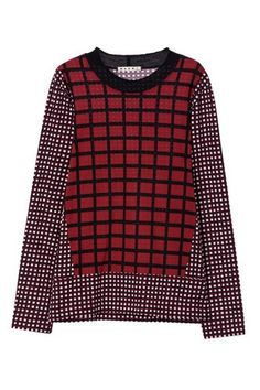Fall's Hottest Hue: 15 Burgundy Pieces To Wear Now  #refinery29  http://www.refinery29.com/fall-trend-burgundy-clothing#slide-7  Marni Blocks & Cubes T-Shirt, $400, available at Marni....