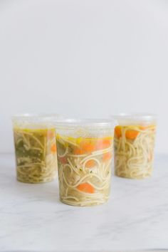 This chicken noodle soup freezer meal is super easy to make and now even easier with these freezer meal tips. Rich stock, chicken, vegetables, and noodles come together for a quick and easy meal. The chicken noodle soup seasoning is perfect! Make ahead and freeze for a homemade meal always on hand. via happymoneysaver #freezermeal #easydinner #chickennoodlesoup #chickensoup #happinessinabowl #chicken #soup #chicken #dinner