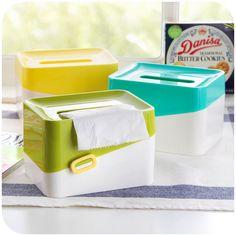 Q Korean mixed colors creative coin money tissue boxes, paper towel tube pumping carton desktop Tissue K3469