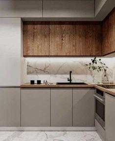 Kitchen Room Design, Kitchen Cabinet Design, Modern Kitchen Design, Home Decor Kitchen, Interior Design Kitchen, Home Kitchens, Interior Modern, Kitchen Designs, Kitchen Ideas