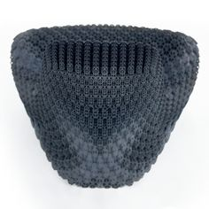 """3D printing furniture: Gradient Chair by Joris Laarman Lab, 3D printed in thermoplastic polyurethane, solid at structural points, with a soft and flexible surface, """"like foam that is engineered on a cellular level."""""""
