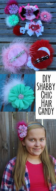 Shabby Chic Boutique Hair Bows! Make your bows interchangeable for alligator clips, french clips, pins or headbands!