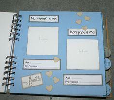 Un livre de naissance - L'atelier scrap de Céline