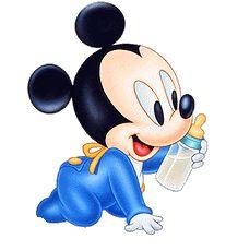 Baby Mickey w/Bottle Baby Mickey Mouse, Festa Mickey Baby, Mickey Mouse Kunst, Mickey Mouse E Amigos, Mickey Love, Mickey Mouse 1st Birthday, Mickey Mouse And Friends, Retro Disney, Cute Disney
