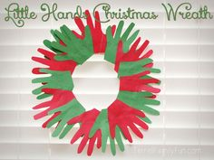 Little Hands Christmas Wreath, Handprint Christmas Wreath