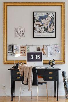 #Délimiter l'espace du #bureau avec un beau #cadre...