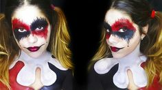 October makeup halloween makeup sfx body painting face painting harley quinn original DC comics arley cosplay