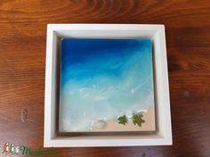 Mini művészgyanta festmény, tengerpart kép (NaxaDesign) - Meska.hu