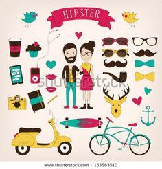 Hipster set icons by alien-tz, via Shutterstock