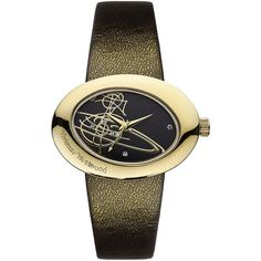 Vivienne Westwood Women's Gold Oval Watch ($199) ❤ liked on Polyvore