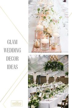Do you want your wedding to be the most memorable event of the year for your guests? Then choose glam wedding decor ideas in our gallery.#weddingforward #wedding #bride
