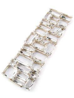 H.Stern Cobblestones bracelet in 18K yellow gold with rock crystal. #HStern #jewelry