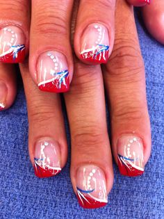 Nails by Janice July 4th nail art  #SephoraNailspotting