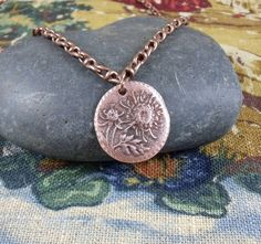 Scottish Thistle charm necklace  Bronze  Outlander by KLFStudio