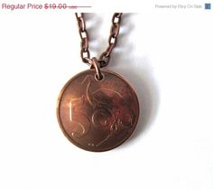 CIJ Christmasinjuly Sale Upcycled Coin Necklace by Hendywood, $16.15