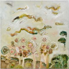 Julia Schwartz at Bleicher Gallery La Brea. mustangs run wild, 2012, oil on canvas 36x36 inches