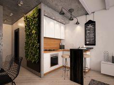 Студия недели: 48 квадратов в стиле лофт   Свежие идеи дизайна интерьеров, декора, архитектуры на InMyRoom.ru