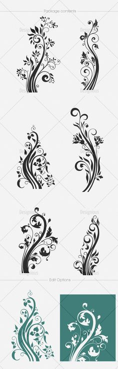 Floral Vector Pack 111   Designious