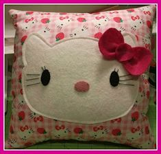 Sewing Miles of Smiles...: HELLO KITTY PILLOW