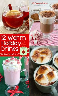 12 Warm You Up Winter Holiday Drink #Recipes. Totally want to try the broiled Bailey's hot chocolate.