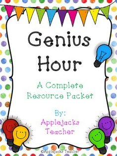 Genius Hour - A Complete Resource Packet by Applejacks Teacher Problem Based Learning, Inquiry Based Learning, Project Based Learning, Genious Hour, Classroom Activities, Classroom Ideas, Steam Activities, Primary Classroom, Gifted Education