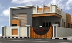 Small House Elevation Design - Small House Elevation Design , Small Home Design Tamilnadu House Front Wall Design, House Outer Design, Single Floor House Design, Village House Design, Unique House Design, Bungalow House Design, Indian House Plans, New House Plans, Modern House Plans