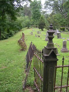 "Soddy's old Presbyterian cemetery. Photo by Georgiana Kotarski, author of ""Ghosts of the Southern Tennessee Valley"" (John F. Blair, 2006)."