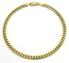 4MM 10K SOLID Yellow Gold Cuban Miami Necklace Chain 18 - 24 Inches Price: US $850.50 Sale ends in: 01d 02h 27m