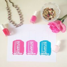 Free Printable Essie Bottle Print from @chicfetti