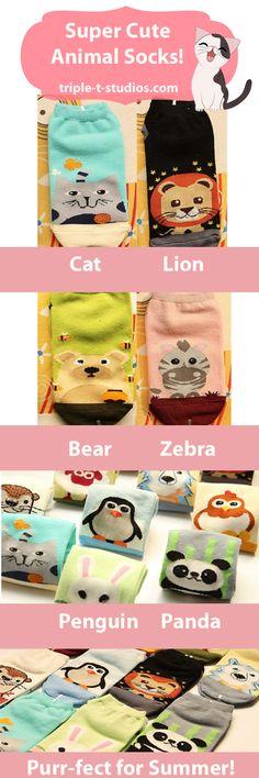 Adorable Animal Socks!