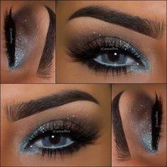 Eye make up for blue eyes Gorgeous Makeup, Love Makeup, Makeup Inspo, Makeup Inspiration, Sleek Makeup, Skin Makeup, Eyeshadow Makeup, Eyeliner, Natural Eyeshadow
