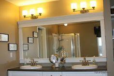Framed contractor grade mirror- no miter saw needed:)