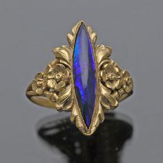 GEORGES LE TURCQ b. 1859 Attrib. Superb Belle Epoque Ring French, c.1900